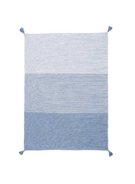 Elegant Baby Blue Ombre Tassel Baby Blanket