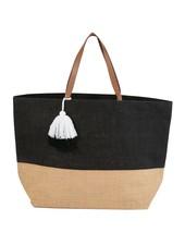 Mudpie Black Color Pop Tote Bag