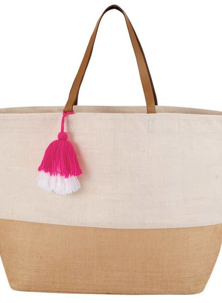 Mudpie White Color Pop Tote Bag
