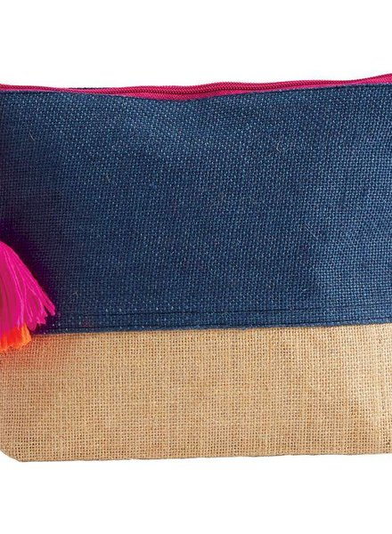 Mudpie Navy Color Pop Zip Case