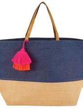 Mudpie Navy Color Pop Tote Bag