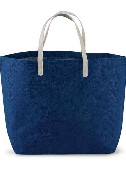 Mudpie Solid Navy Blue Tote Bag