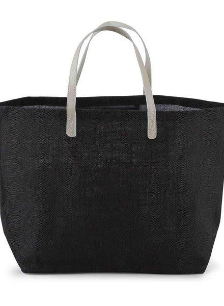 Mudpie Solid Black Tote Bag