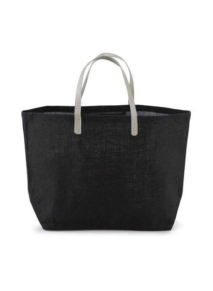 Mudpie Black Monogrammed Tote Bag
