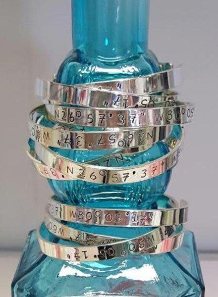 Jupiter Coordinates Bracelet - Sterling Silver