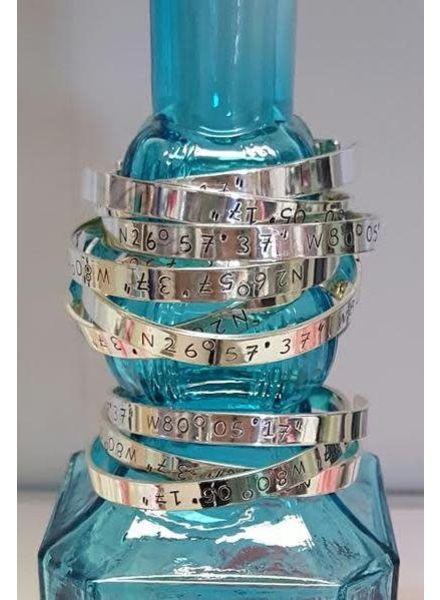 Initial Styles Jupiter Coordinates Bracelet - Sterling Silver