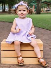 Ruffle Butts Lilac Seersucker Swing Top