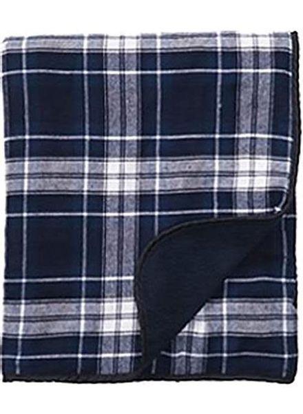 Boxercraft Navy & White Flannel Blanket