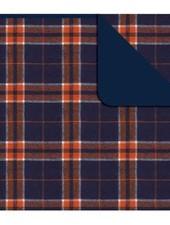 Boxercraft Orange & Navy Flannel Blanket
