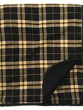 Boxercraft Black & Gold Flannel Blanket
