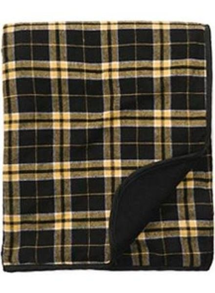 Boxercraft Black & Gold Flannel Blanket
