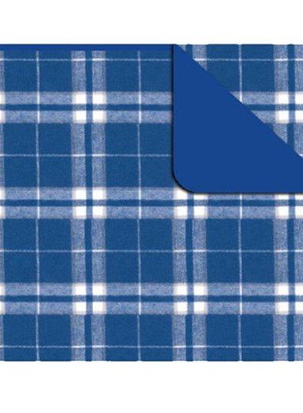 Boxercraft Royal Blue & Silver Flannel Blanket
