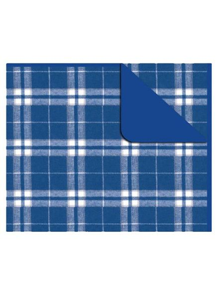 Boxercraft Royal Blue & Silver Flannel Blanket