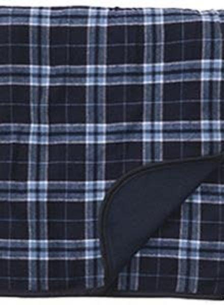 Boxercraft Navy & Columbia Blue Flannel Blanket