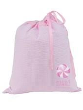 Mint Pink Seersucker Travel Pocket