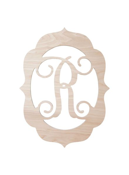 Wholesale Boutique Wood Fancy Frame Monogram