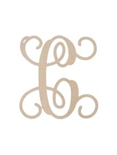 Wholesale Boutique Wood Wall Vine Initial