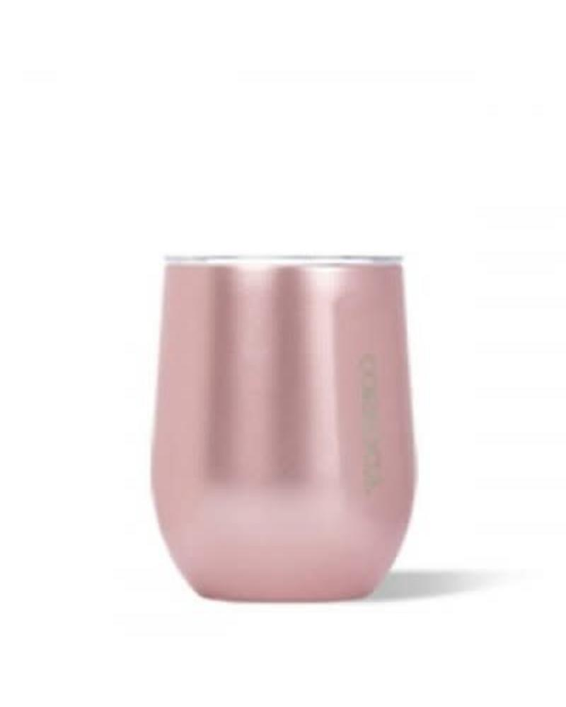 CORKCICLE Rose Metallic Stemless Wine