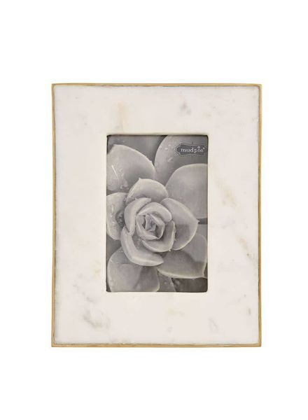 Mudpie Marble & Gold Frame