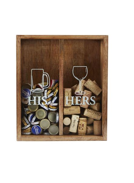 Mudpie His & Hers Cork Display Box