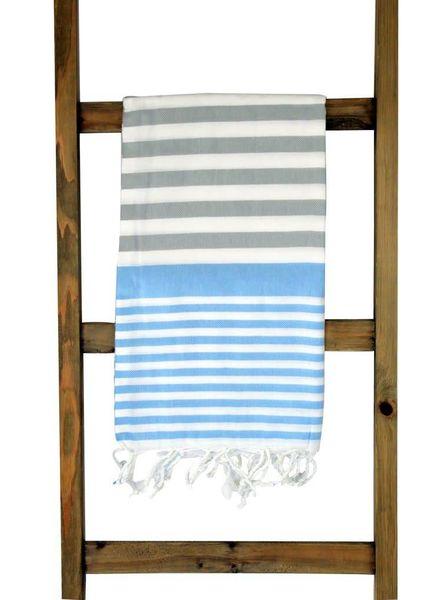 The Green Owl Sky & Gray Turkish Towel