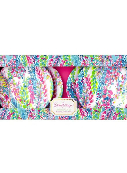 Lilly Pulitzer Appetizer Plate Set