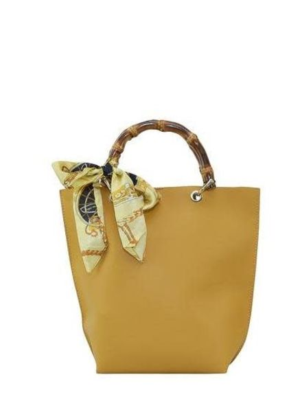 Mustard Bamboo Handle Purse