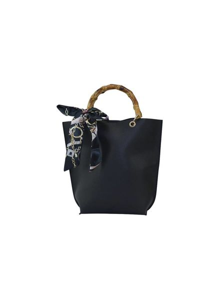 Black Bamboo Handle Purse