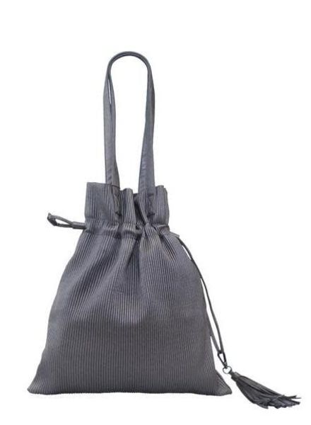 Copper Pleated Bucket Bag