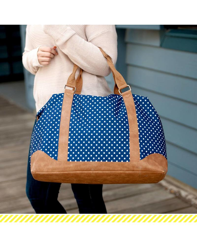 Wholesale Boutique Navy Dot Weekender