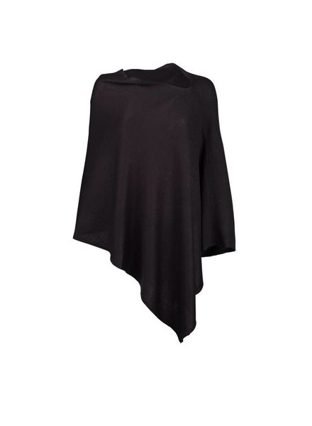 Wholesale Boutique Black Monogrammed Poncho