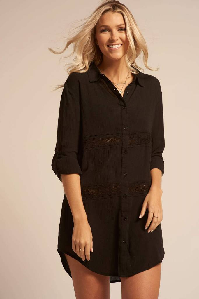 KOY RESORT ROBE CHEMISE MIAMI - NOIR - KOY RESORT