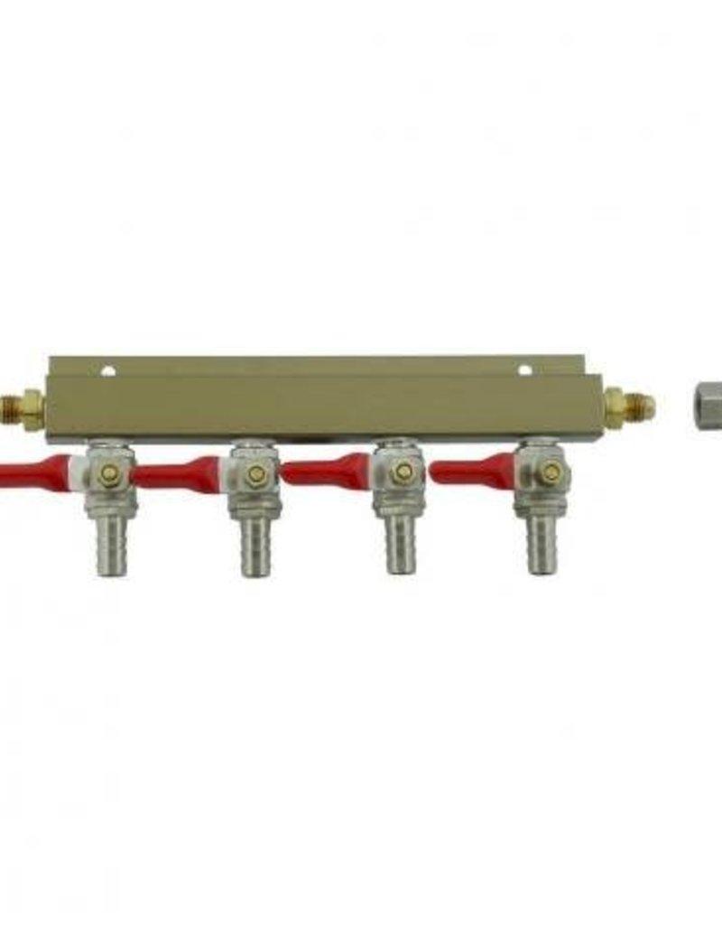 Gas Manifold - 4-way