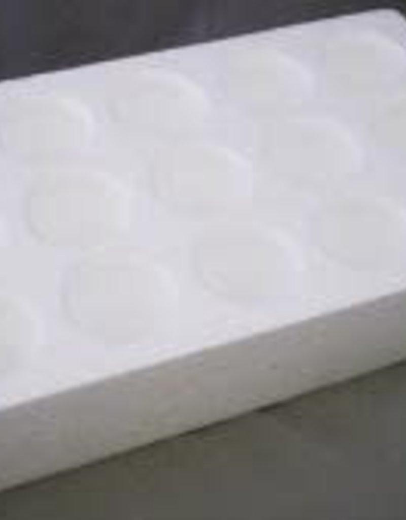 White Labs Styrofoam Vial Tray