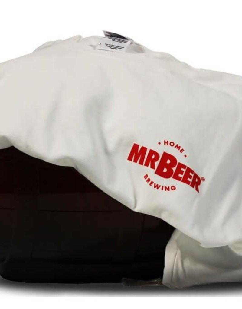 T-Shirt - White/Red Logo - XL