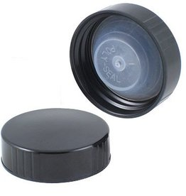 Caps - Growler - Black Poly-Seal - 38mm