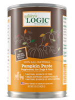 Nature's Logic Nature's Logic Pumpkin Puree Dog & Cat Can Food Supplement - 15 oz.