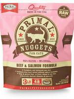 Primal Pet Foods Primal Cat Frozen Nuggets Beef Salmon 3#