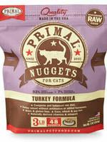 Primal Pet Foods Primal Cat Frozen Nuggets Turkey 3#