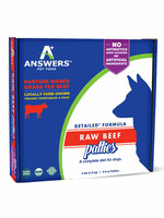 Answers Answers Frzn Dog Detailed Beef Patties 4# (8-8 oz)