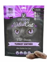 Vital Essentials Vital Essentials Cat Frozen Turkey Mini Patties Entree 28 oz
