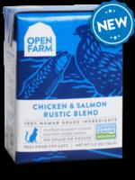 Open Farm Open Farm Cat Wet Rustic Blend GF Chicken & Salmon 5.5 oz 12/Case