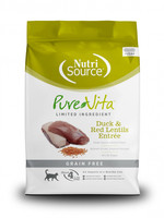 Pure Vita (Tuffy) Pure Vita Cat Dry GF Duck & Red Lentils, 6.6#