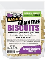 K9 Granola Factory K9 Granola Treats Simply Biscuits, GF Turkey & Cranberry, Med 90ct