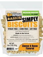 K9 Granola Factory K9 Granola Treats Simply Biscuits, Cheese & Bacon, Med 90ct