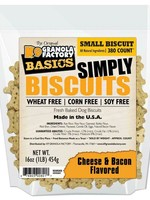 K9 Granola Factory K9 Granola Treats Simply Biscuits, Cheese & Bacon, Sm 350ct
