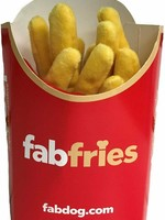 FabDog <p>Fab Dog Fries Squeaky Plush Dog Toy, Nothing's better than a bag of hot salty French fries and now your four-legged friend can enjoy them too—in plush form! Equipped with a fun squeaker, this Fries Dog Toy is a fun-filled snack to toss around together