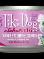 TIKI Dog Aloha Petite Chicken & Sardine Okakopa 3.5oz 24/case