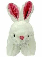 HuggleHounds Dog Toy Knotless Squooshie Bunny