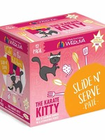 Weruva Cat Wet CITK SnS Pate GF Beef & Salmon Karate Kitty 3 oz 12/Tray